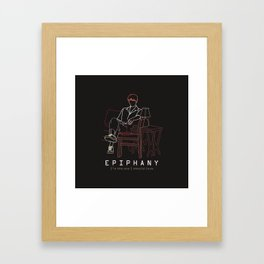 BTS JIN EPIPHANY LINE ART Framed Art Print