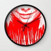 bjork Wall Clocks featuring BJORK by Andhika Tile