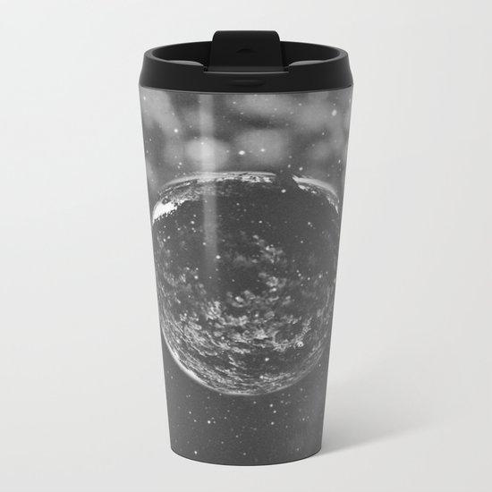 Black and White Metal Travel Mug
