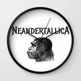 Neandertallica Wall Clock