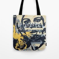 pulp Tote Bags featuring Pulp by Mike Ferrari