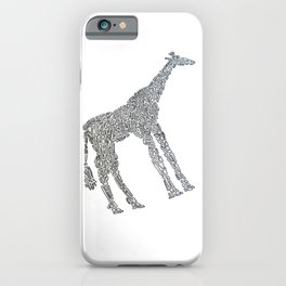 Giraffe by Shapes iPhone Case