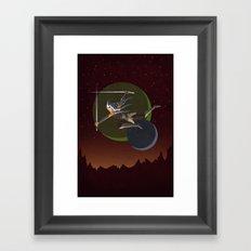 Ahsoka Attacks Framed Art Print