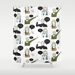 A Medley Print Shower Curtain