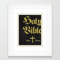 bible Framed Art Prints featuring Holy Bible by justin skeesuck