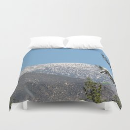 Southern California Snow Tease Duvet Cover