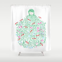 Let It Grow Shower Curtain