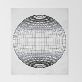 Wire Planet2 -BG white- Throw Blanket