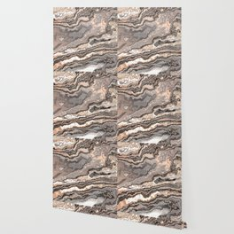 Brown Marble Texture Wallpaper