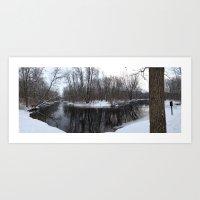 riverbend Art Print