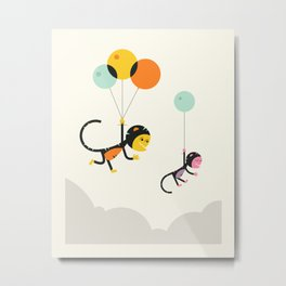 TRAVELLING MONKEYS Metal Print