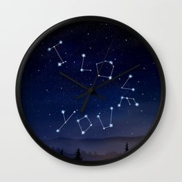 I love You Stars Design Wall Clock