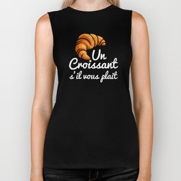 French Croissant Day a Croissant Please Flaky Buttery Bakery Food Biker Tank