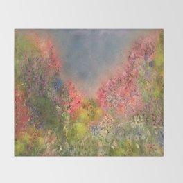 A Summer Meadow Throw Blanket