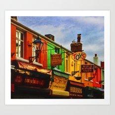 Rainbow of shops Art Print
