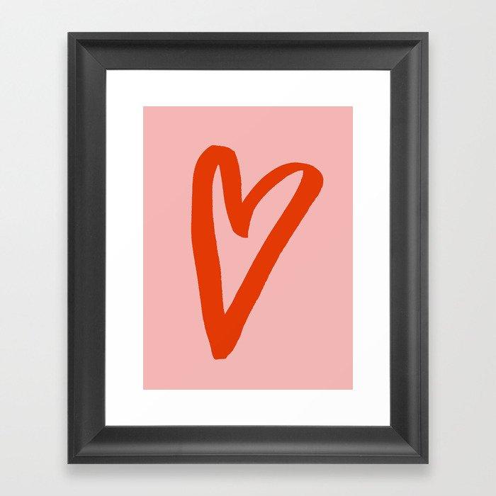 Heart Doodle Big 1 Gerahmter Kunstdruck