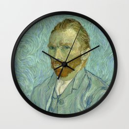"Vincent van Gogh ""Self-portrait"" (1) Wall Clock"