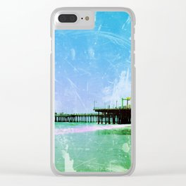 Blue Santa Monica Pier Clear iPhone Case