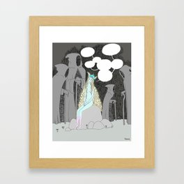 The death of my fears Framed Art Print