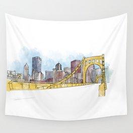 Pittsburgh Sister Bridge Wall Tapestry