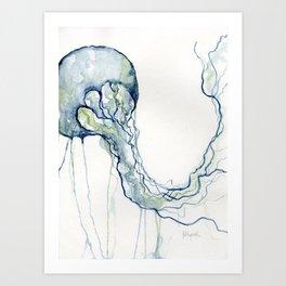 Light Blue Jellyfish Art Print
