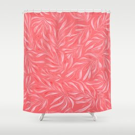 Pink Foliage II Shower Curtain