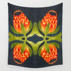 Floral symmetry 1. Wall Tapestry