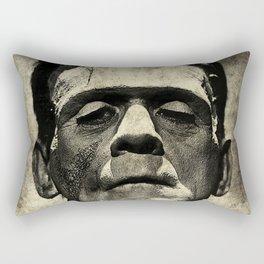 Frankenstein Grunge Rectangular Pillow