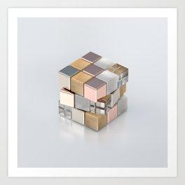 Rubiks Cubed Art Print