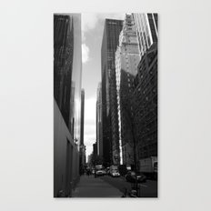 Reflection of the street Canvas Print