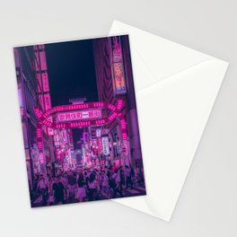Pink Light District Stationery Cards