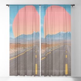 HIGHWAY TO LIFE MAGICAL DREAMSCAPE Sheer Curtain