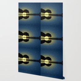 guitar island moonlight Wallpaper