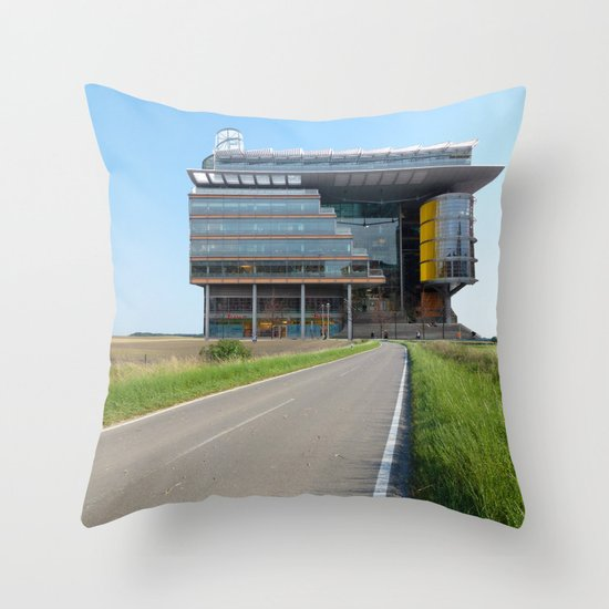 Surreal CityLand Collage 2 Throw Pillow