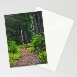 Green Forest Path (Color) Stationery Cards