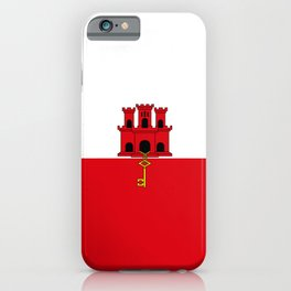 flag of Gilbraltar iPhone Case