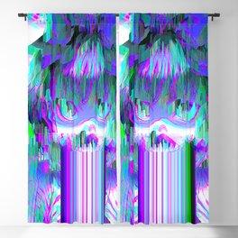 Glitch Girl Glitch Art Blackout Curtain