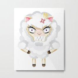 Funny Chibi Sheep 2 Metal Print