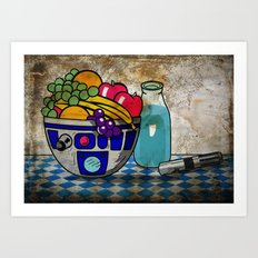 Still Life...with Blue Milk  Art Print