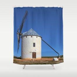 Spanish Windmill Shower Curtain