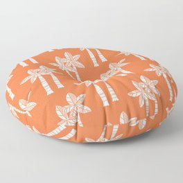 Palm Tree Pattern Orange 3 Floor Pillow