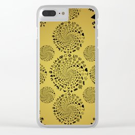 Mandala of Love Symbols from Ancient Cultures on Papyrus Clear iPhone Case