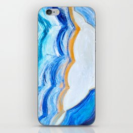Blue and gold agate iPhone Skin