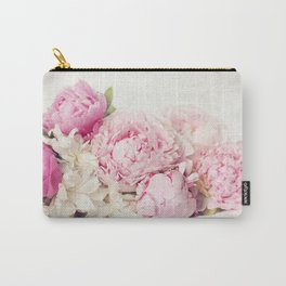 Peonies on white Carry-All Pouch