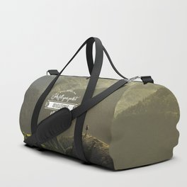 Jobs fill your pocket, adventures fill your soul Duffle Bag