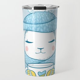 Winter Rabbit Travel Mug