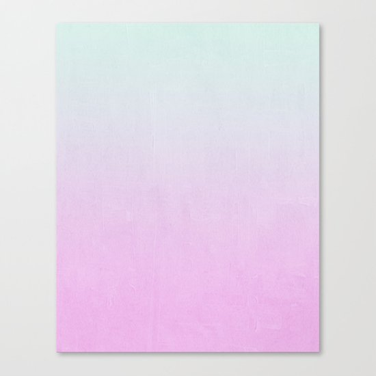 Ombre fade pastel trendy color way throwback retro palette 80s 90s style Canvas Print