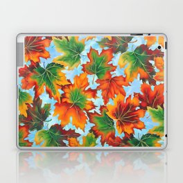 Autumn maple leaves II Laptop & iPad Skin