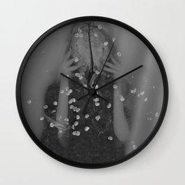 Graveyard Glitter Wall Clock