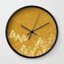 Minimalist Landscape Line Art III Wall Clock